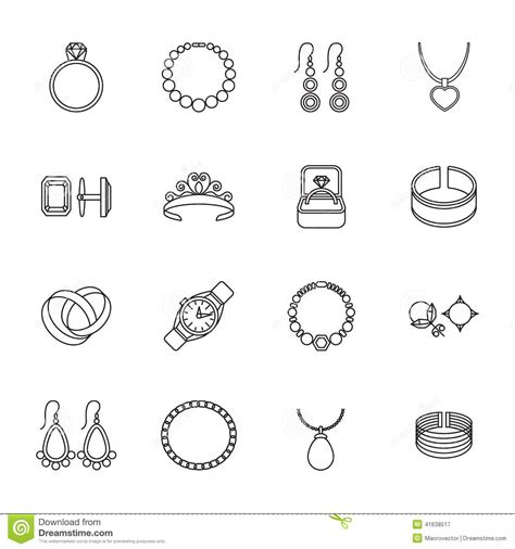 Jewelry icon outline stock vector. Illustration of gold   41638517