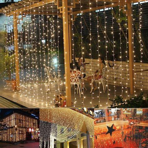 9 8ftx6 6ft 224led Christmas Xmas String Fairy Wedding Curtain Lights Wedding