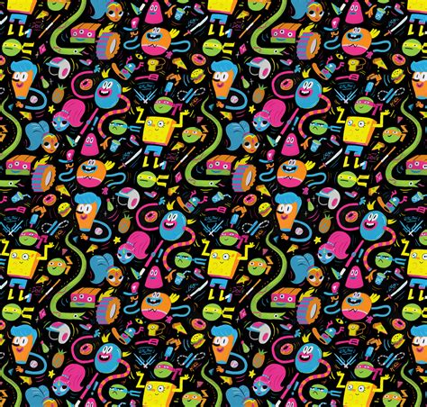 pattern character in c nickelodeon patterns on behance