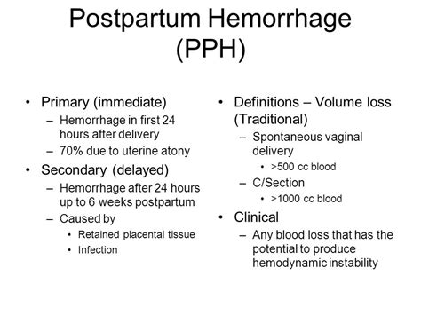 primary c section definition postpartum hemorrhage ppt video online download