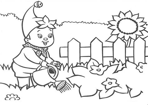 Flower Garden Coloring Pages For by Flower Garden Coloring Pages For Printable Coloring