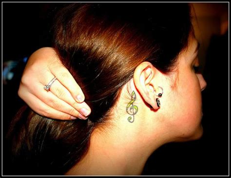 g tattoo behind ear 30 cool behind the ear tattoos