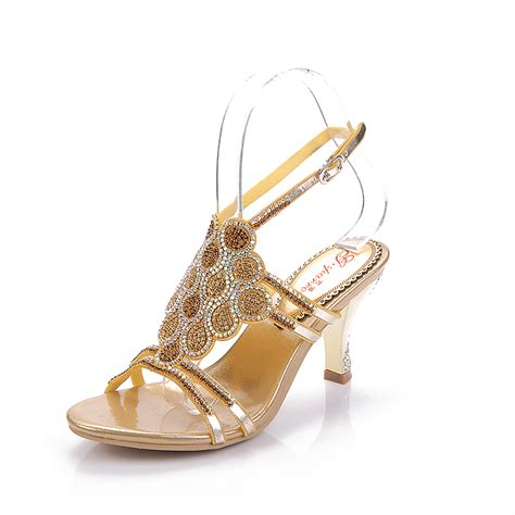 gold strappy sandal heels gold strappy heels promotion shop for promotional gold