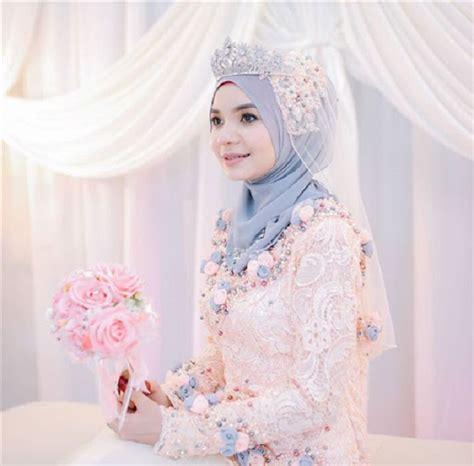 Baju Muslim Akad Nikah 5 model baju akad nikah muslimah simple yang mempesona gebeet