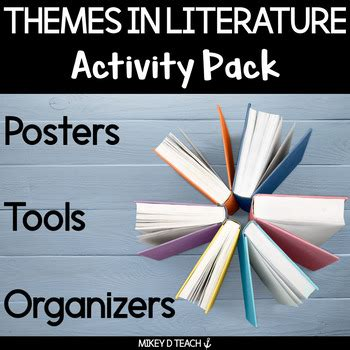 theme in literature notes themes in literature activities graphic organizers and