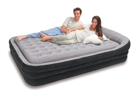 air bed comfortable intex deluxe pillow rest raised comfort queen review