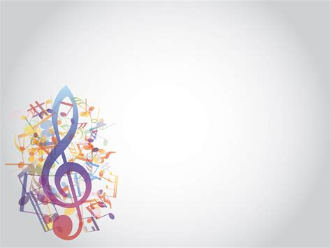 colored music notes style ppt backgrounds music