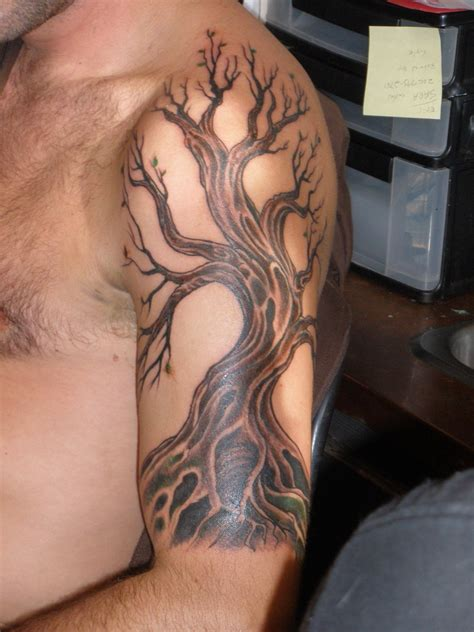 tree shoulder tattoo 12 awesome tribal tree tattoos only tribal