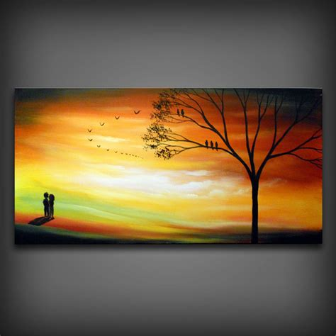 acrylic painting ideas fall autumn fall orange landscape painting large acrylic by
