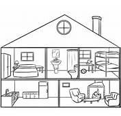 Casa Por Dentro Para Colorear Los Ni&241os Dibujos De