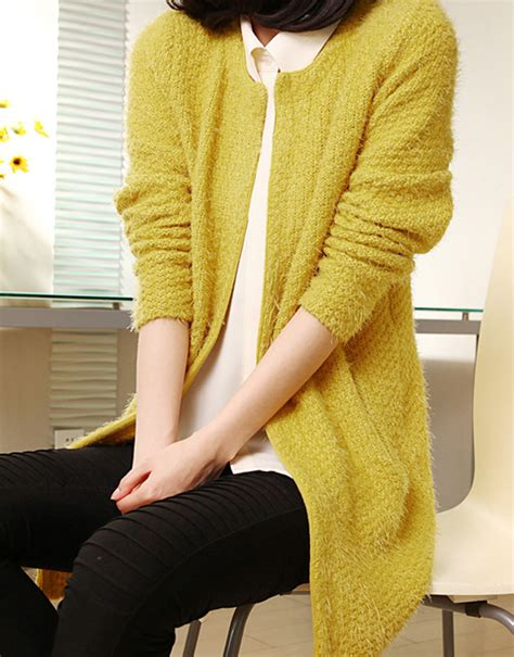 Jaket Sweater Korea Jaket Cardigan Sweater Rajut s mohair knitting cardigan sweater solid color korean coat winter clothes