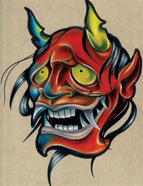 tattoo art prints smola hannya by corey smola asian new school canvas