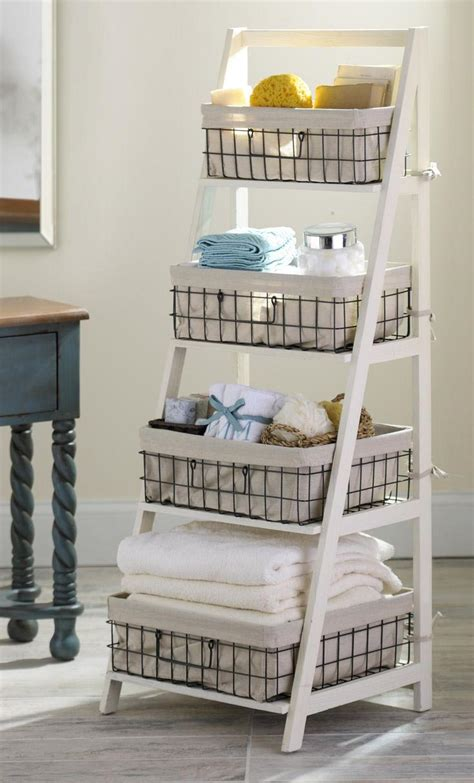best decor ladder shelf with baskets best decor things