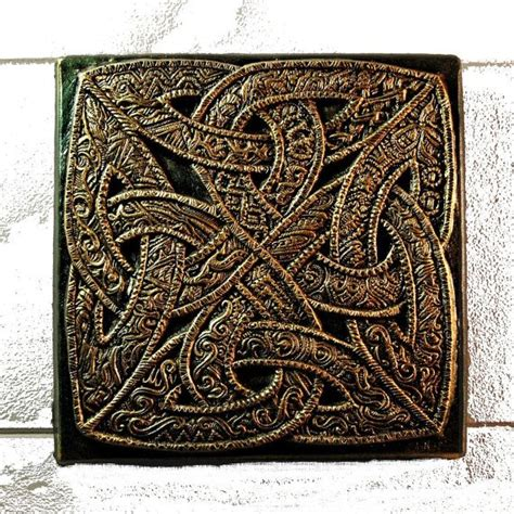 celtic home decor celtic knot stone art sculpture engraved stone art irish