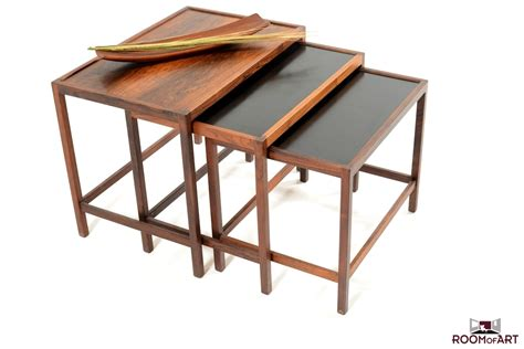 Stackable Tables by Nesting Tables In Palisander Room Of