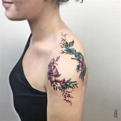 tattoo across ribs 70 awesome shoulder tattoos flower shoulder tattoos