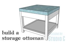 build ottoman a simple to build ottoman with storage designs by studio c