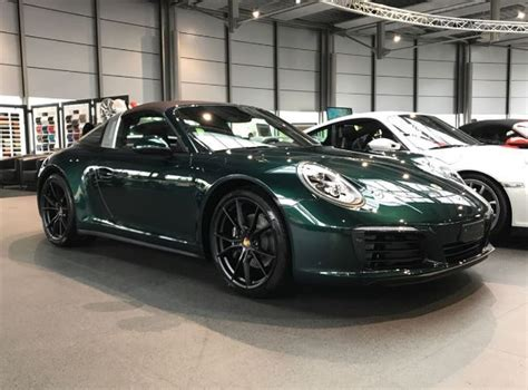 porsche dark green jet green metallic 991 2 porsche 911 targa 4 with brown