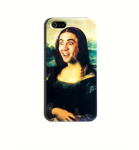 Meme Iphone Case - nicolas cage mona lisa funny meme hard case iphone 4 4s 5 5s