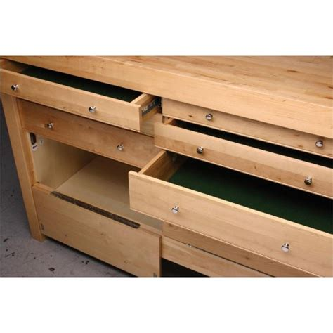 tool bench hardware storage grizzly h7724 birch workbench with drawers 60 inch