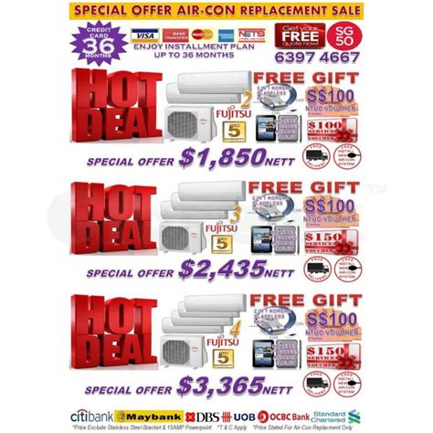 new year 2016 singapore offers new year aircon special offer 2016 japanese brand air