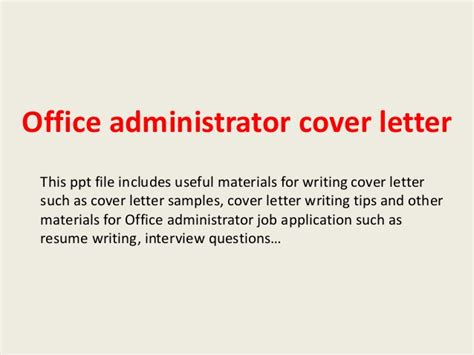 letters of administration office administrator cover letter 1461
