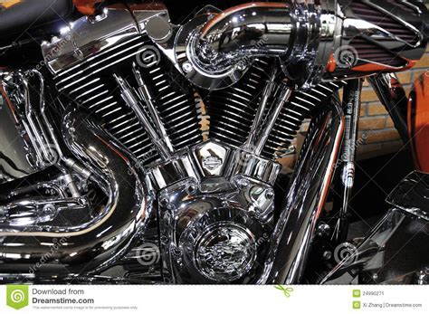 Harley Davidson Motorcycle Engine Editorial Photo   Image