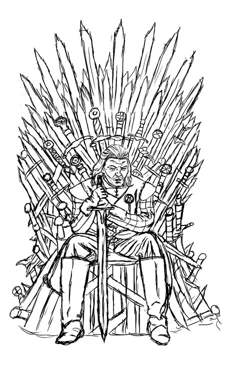 thrones colouring book adults of throne ned starck by luxame tv shows coloring