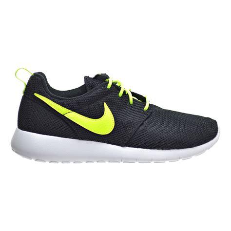 nike big kid shoes nike roshe one gs big kid s shoes black volt white