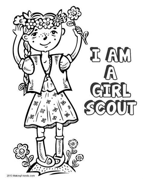 Girl Scout Law Coloring Book Print All The Pages To Scout Coloring Pages For Daisies Printable