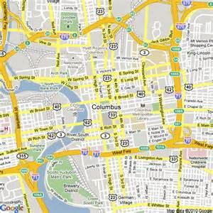Maps Columbus Ohio by Columbus Ohio State Map Images