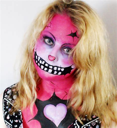 pink zombie wallpaper pink zombie makeup by blueberrystarbubbles on deviantart