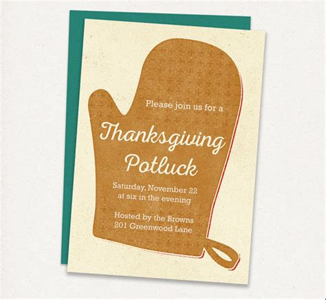 thanksgiving potluck invitation sles infoinvitation co