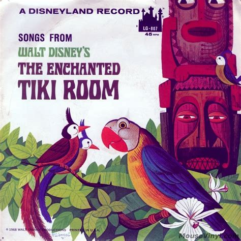 tiki room song songs from walt disney s the enchanted tiki room by disneyland records mousevinyl