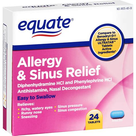 best sinus infection medicine equate allergy sinus medication 24 ct walmart