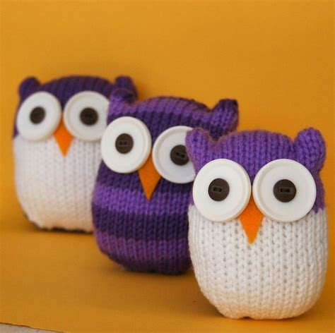 how to knit a owl and easy owl instant pdf knitting pattern