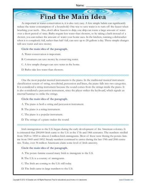 College Level Reading Comprehension Worksheets by High School Idea Reading Passage Worksheet