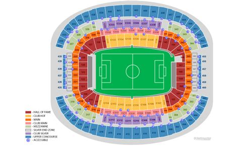 texas stadium seat map at t stadium arlington tx seating chart view