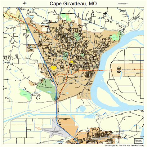 missouri map cape girardeau cape girardeau mo pictures posters news and on