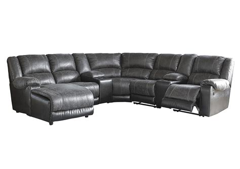 left facing chaise sectional ivan smith nantahala slate left facing corner chaise