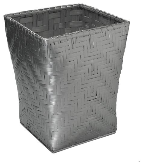 small waste baskets square bamboo waste basket small silver lacquer