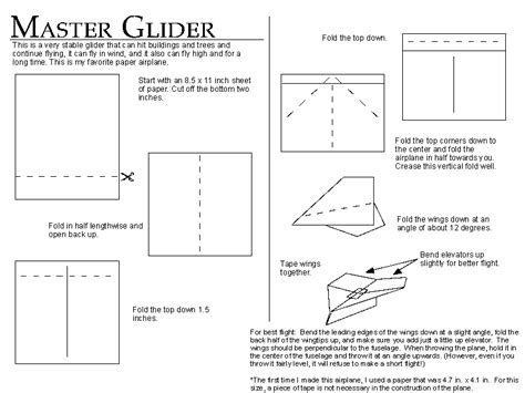 How To Make Paper Airplanes That Glide - master glider
