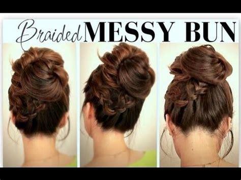 school hairstyles buns everyday school hairstyles big bun with braids updos for medium hair
