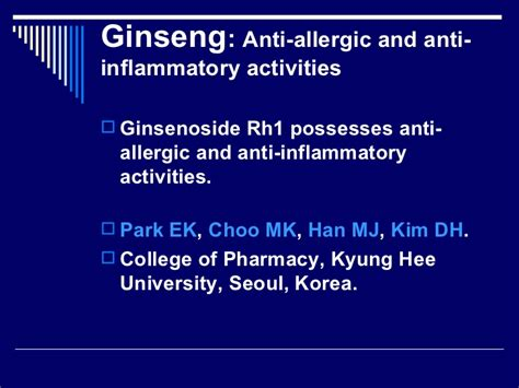 Mj Ginseng allergy and ginseng study