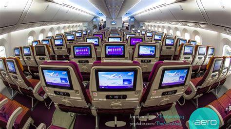 dreamliner cabin thai airways boeing 787 8 dreamliner cabin tour