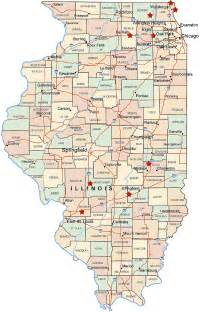 Map Of Illinois With Cities by Illinois Map Travel Map Vacations Travelsfinders Com