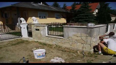 garten mauer gartenmauer mit solnhofer dekorieren
