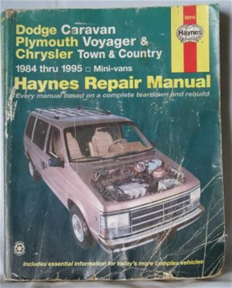 haynes dodge caravan plymouth voyager chrysler town country 1984 1995 repair manual