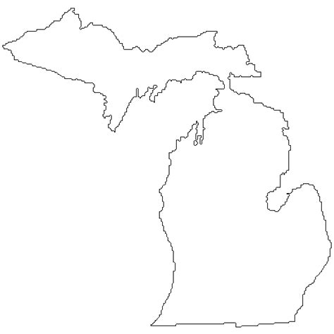 Printable Outline Of Michigan by Go Printables