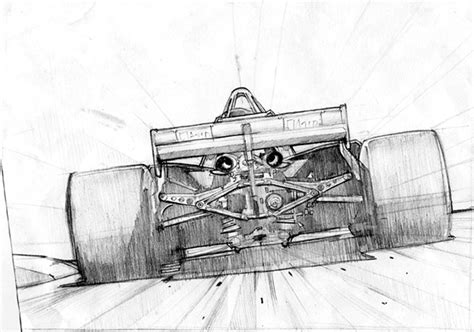 Formula 1 Sketches by Formula 1 Paintings On Behance